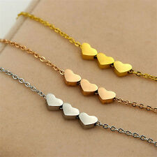 Necklace Charms Pendant Women 1Pcs Fashion Three Heart Stainless steel Jewelry