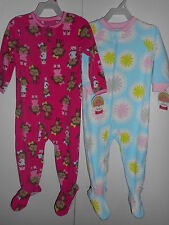 Girls Carters Pajamas Fleece One-Piece Footed Toddler Size 18 months  NWT