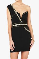 BNWT RRP$695 SASS & BIDE THE EARLY BIRD Cocktail Dress Size 44 14 Black