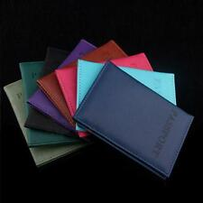 Passport Holder Artificial Leather Travel Passport Cover Unisex Card Case Holder