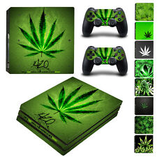 PS4 Pro Skin&Controllers Skin Vinyl Sticker For PlayStation 4 Pro Marijuana Weed