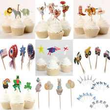 24pcs/Set Funny Cute Paper Cupcake Cake Topper Picks Party Cake Decoration