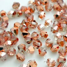 Wholesale Bicone Faceted 5301# Crystal Glass Loose Spacer Beads DIY 3mm/4mm/6mm