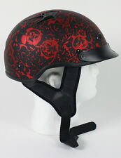 DOT APPROVED MATTE BONE YARD RED MOTORCYCLE HELMET - free shipping