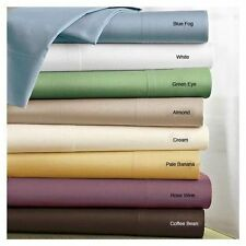 UK Double Size Hotel Bedding Collection 1000TC Egyptian Cotton Solid & Stripe