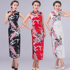 New style Chinese women's silk evening LONG Dress Cheongsam Size: S-XXL