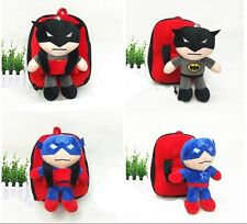 Cartoon Kindergarten Shoulders School Bag Batman Captain Supermen Child Backpack