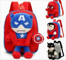 The Avengers Cartoon Kindergarten Shoulders School Bag Child Traveling Backpack