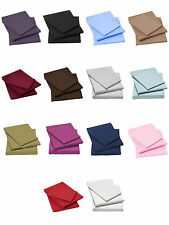 100% EGYPTIAN COTTON FITTED FLAT SHEETS 200 THREAD COUNT SINGLE DOUBLE KING