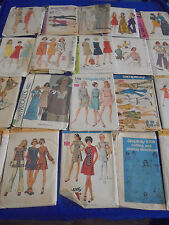 ALL SZ 14 U PICK SEWING PATTERNS MORE THAN PICS VINTAGE 1950S 1960S 1970S