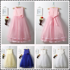 Princess Flower Girls Dress Tulle Layers Pageant Wedding Birthday Party Pageant