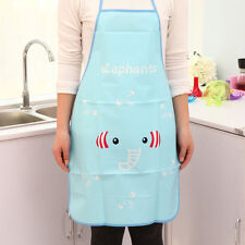 Good!! Women Cute Cartoon Waterproof Apron Kitchen Restaurant Cooking Bib Aprons