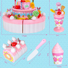 Layer Birthday Cake Cheerful Double Girl Birthday 1 PC Kitchen Toy Gift Child