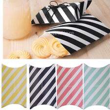 12pcs Wedding Pillow Stripe box Sweet Candy Gift Boxes Party Baby Shower Favors