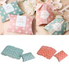 12pcs Fashion Dots Pillow Sweets Candy Boxes Wedding Birthday Party Favor Boxes