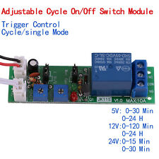 DC 5/12/24V Adjustable Cycle Trigger Delay Timing Timer Relay On/Off Switch Hot