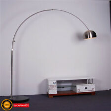 Modern Floor Arc Lamp With Marble Base in Nickel Finish-Arch Lamp LED Floor Lamp