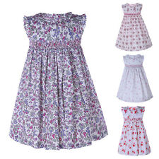 Baby Infant Dress Toddler Girl Flower Print Cotton Summer Party Holiday Dresses