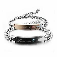 'True Love' 316L Stainless Steel His/Hers Matching Couple Bracelet Romantic Gift