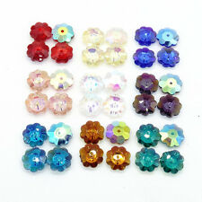 Wholesale Plum flower AB 30pcs crystal glass Loose Spacer beads DIY 10mm