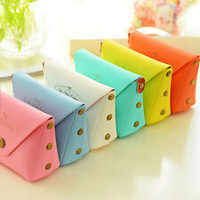Small Wallet Zip Coin Cosmetic Organize Bag Purse Pouch Candy Macaroon