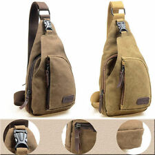 Men's Travel Hiking Backpack Military Canvas Satchel Shoulder Bag Messenger Bag