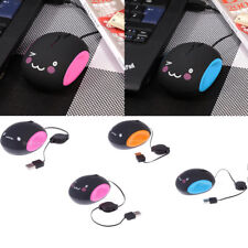 Retractable 1000 DPI USB Optical Scroll Mouse Mice for PC Laptop Computer