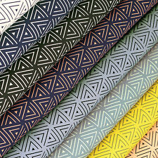 Cotton Fabric FQ Triangle Geometric Graphic Dress Quilting Patchwork Craft VK117