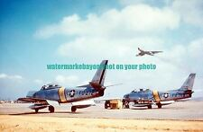 USAF North American F-86E Sabre  Aircraft Color Photo Military Aircraft F 86