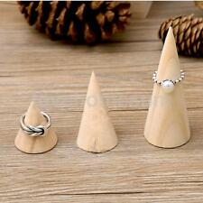 Wooden Cone Jewellery Display Stand Ring Organizer Showcase Stand Holder S M L