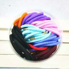 70pcs Colorful Women Lady Elastic Rubber Hair Bands Ponytail Holder for Girls