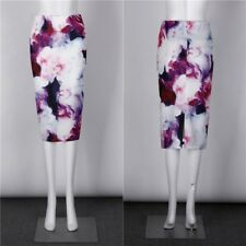 Style 3d Floral Pattern Solid Print High Waist Elastic Skirt for Women ABN959