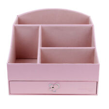 PU Leather Makeup Organizer Drawer Box Make Up Cosmetic Holder Storage Case