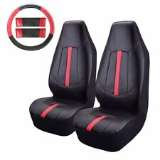 8 PC PU-Front Car Seat Covers Leather Seat Covers For Car SUV Truck or Van
