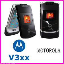 UNLOCKED MOTOROLA RAZR V3xx 3G RETRO Flip Mobile Phone 1.3MP Cellphone Bluetooth