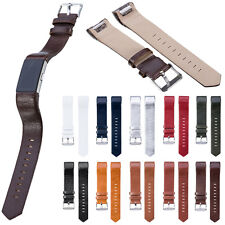 Genuine Leather Watchband Wrist Band Strap Bands Bracelet For Fitbit Charge 2