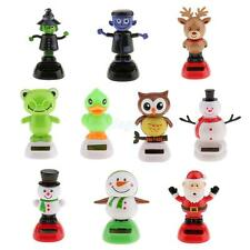 10 Type Solar Powered Dancing Figure Flip Flap Toys Car Home Decoration Toy Gift