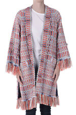 TORY BURCH New Woman Multi-Color Tweed Long Sleeve ERICA Open Front Jacket NWT