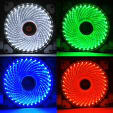 33-LED Light Neon PC Computer Case CPU Cooling Fan Mod Cooler 120mm 3Pin & 4Pin