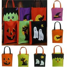 Halloween Party Trick or Treat Bag Non-woven Fabric Loot Bags Gift Bag w/ Handle