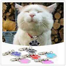 Unique Stainless Steel Paw Print Pendant Necklace Charm Tag For Pet Dog Cat  fy