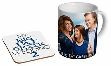 My Big Fat Greek Wedding 2 Ceramic Tea - Coffee Mug Coaster Gift Set