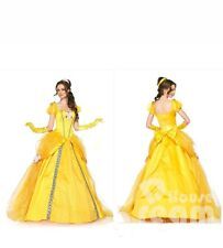 Fancy Dress Halloween Belle Cosplay Costume Beauty and The Beast Adult Princess