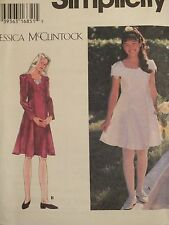 OOP SIMPLICITY 9654 Girls J.McCLINTOCK Fit/Flare Princess Dress PATTERN 7-8-10 U