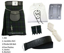 Scottish Black Watch Tartan Kilt Outfit Package of 6 (Six) Pieces