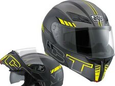 AGV COMPACT-ST SEATTLE Black/Silver/Yellow Flip Up Modular Motorbike Helmet
