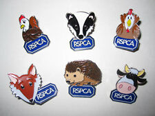"RSPCA CHARITY pin badges 6 Animals ""Paws to Support"""