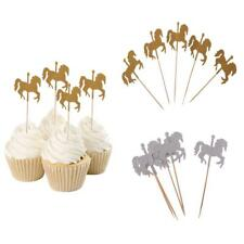 5pcs Rotating Horse Cupcake Picks Cake Toppers Baby Shower
