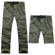 Mens Quick Dry Pants Detachable Fishing Climbing Hiking Outdoor Sports Trousers