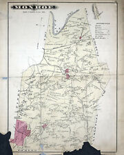 1877 Map of Monroe Township Clarion County Pennsylvania Oil Wells